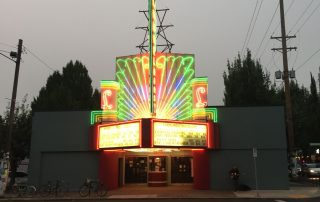 cinema at night